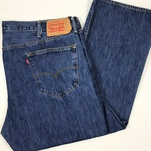 Level 501 Button Fly Straight Leg Cotton Jeans 44